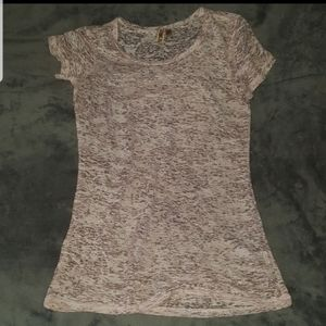 BKE SHEER PINK PALE TOP SHIRT NEW GORGEOUS